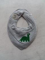 Sabberlatz grau meliert Dino