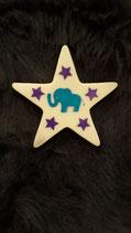 "Stern groß ""Elefant"" mint - lila"