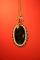 DI-07 Obsidian Halskette