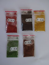 Ossidi naturali per colorare il mastice