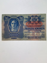 AUTRICHE ALLEMAGNE 20 KRONEN 1913