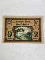 AUTRICHE 40 HELLER GUTFCHEIN CHALET 1920