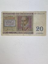 ROYAUME DE BELGIQUE 20 FRANCS 1950
