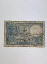 FRANCE 10 FRANCS MINERVE 1940