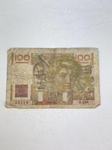 FRANCE 100 FRANCS 1946 ... MAUVAIS ÉTAT