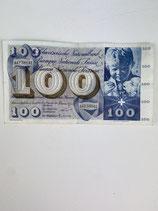 SUISSE BILLET DE 100 CHF 1964/1965