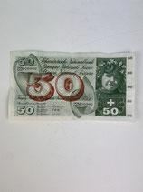 SUISSE BILLET DE 50 CHF 1964