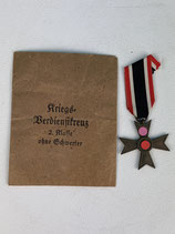 CROIX DU MÉRITE 2EME KLASS WW II