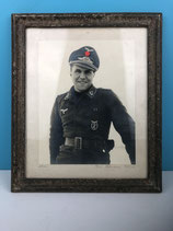 PHOTO ENCADREE OFFICIER ALLEMAND WILLE HOFFMANN 1944