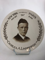 CHARLES LINDBERG ASSIETTE NEW-YORK / PARIS  MAI 1927