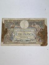 FRANCE 100 FRANCS LUC OLIVIER-MERSON TRÈS MAUVAIS ÉTAT