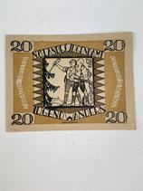 AUTRICHE 20 HELLER NO LANDES JUGENDAMT 1920