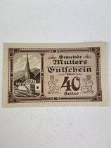 AUTRICHE 40 HELLER MUTTERS 1920