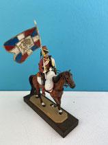 CAVALIER 6EME REGIMENT DE HUSSARDS 1791-1803 PORTE DRAPEAU