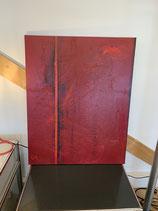B. Saure auf Leinwand ca. 70 x 100 Original Titel: Die Farbe rot