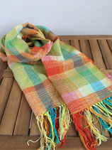 Scarf 011 - Orange based colorful