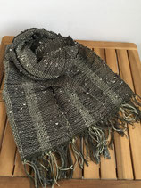 Scarf 012 - Dark brown and khaki