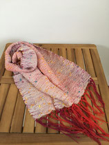 Scarf 002 - White and Red