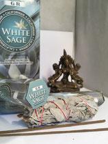 Räucherstäbchen weißer Salbei in Sechseck Packung