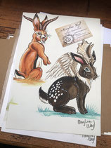 "Dessin original ""Jackalopes"""