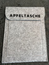 Tablet-Tasche hellgrau mit blauer Schrift myPad