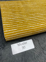 Baumwollstoff Muster 30 senfgelb