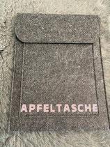 Tablet-Tasche Dunkelgrau mit rosa Glitzer