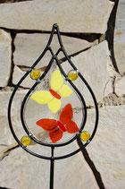 Gartenstecker Schmetterlinge Fusing