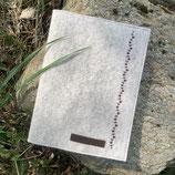 Equidenpass Hülle - creme melange mit gesticktem Muster in schokolade