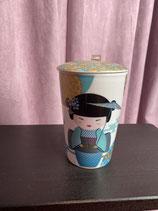 Teebecher Geisha blau