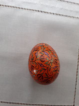 Entenei Ornamente, orange grundiert