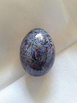 Entenei Ornamente violetblau
