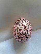 Entenei Ornamente, rosa grundiert
