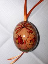 Hühnerei Jeje orange,rot / Band dunkelorange