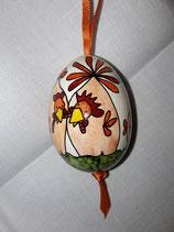 Hühnerei Jeje terrakotta, orange/ Band dunkelorange