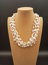 Collier de Mariage, Perle de culture d'eau douce blanche et rose