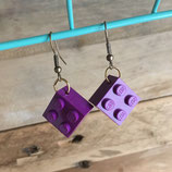 Boucles d'oreilles Upcycling Lego