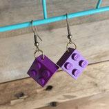 Boucles d'oreilles Upcycling Lego