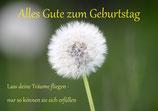 """Geburtstagskarte """"Lass Träume fliegen"""" DIN A6"""