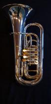 Euphonium  in B - versilbert - alle beweglichen Teile vergoldet - ohne Gravur - vibrationsentdämpft