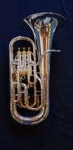 """Vollkompensiertes B-Euphonium """"Schmid"""" - sehr hochwertig in Ausführung und Ansprache - versilbert mit vergoldeten Zügen - vibrationsentdämpft"""