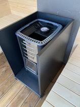 Komplettset Schutzmantel + Bodenschutzplatte für Sauna Holzofen Saunaofen Hitzeschutz Hitzeblech z.b Harvia