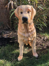 10180 Golden Retriver Hund Figur lebensgroß