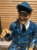 RIHFSC6 Kapitän Figur lebensgroß Maritime Figur