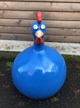 RIC369B Dekofigur Huhn blau klein