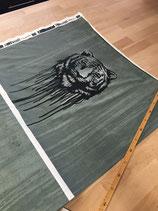 Baumwolljersey - Swafing - Wild Tiger by Thorsten Berger - Tiger auf Dusty Mint