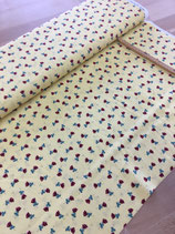 "Cotton Poplin Print ""Yellow"""
