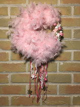 Couronne plume rose