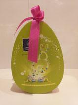 Boîte Ovale Pâques 320gr de petits oeufs assortis. Boîte en carton.