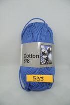 Cotton 8-8 col.535 blauw